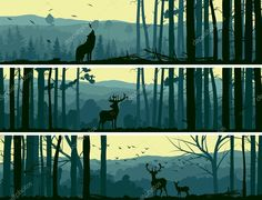 depositphotos_31572377-stock-illustration-horizontal-banners-of-wild-animals.jpg (1023×781)