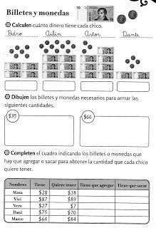 Aula Seño Sory Sistema Monetario Argentino Para Niños Activid Actividades De Matematicas Actividades Para Segundo Grado Matematicas Tercero De Primaria