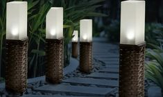 Ideal for gardens or patios, these solar lights automatically turn on at dusk and off at dawn; ideal for use all year around