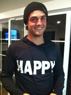 (matty mckibben,awkward,show,hoodie,happy,smile,boy,hot)