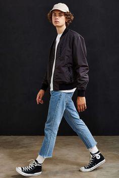 UO Nylon Ace Bomber Jacket - Urban Outfitters