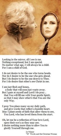Let me be a reflection Lord...