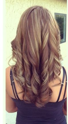 I love this color for fall! Medium brown with caramel highlights