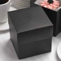 "Two-Piece Black Cupcake Box Black two-piece cake box. Size: 4"" x 4"" x 4"". Contents not included. NOT personalized Package of 25."