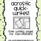 "Here's a collection of ""quick-writes"" pages featuring seasonal words. I use these in my students' independent writing journals...they would also be..."