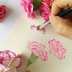 So wonderful watercolor art😍 What's your favorite? - 0 Illustration -🖌️ So wonderful watercolor art😍 What's your favorite? - 0 Illustration - How to Paint Jewel Tone Roses Watercolor Painting Techniques, Watercolour Tutorials, Painting Lessons, Watercolour Painting, Painting & Drawing, Watercolor Beginner, Drawing Techniques, Watercolor Projects, Watercolor Portraits