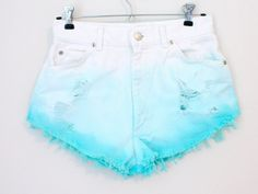 Colored Dyed Ripped Highwasted Shorts by BohoChildGarments on Etsy from BohoChildGarmentsLLC. Saved to clothes. Edgy Outfits, Mode Outfits, Short Outfits, Summer Outfits, Girls Fashion Clothes, Teen Fashion Outfits, Girl Outfits, Emo Fashion, Fashion Shorts