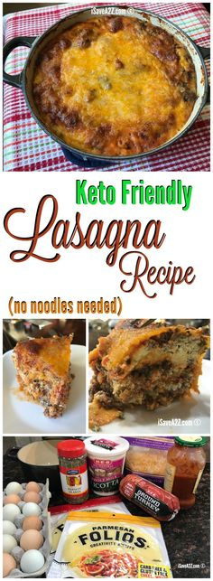 This is the BEST Keto Lasagna I have ever tried!  I love the Ketogenic Diet!   via @isavea2z
