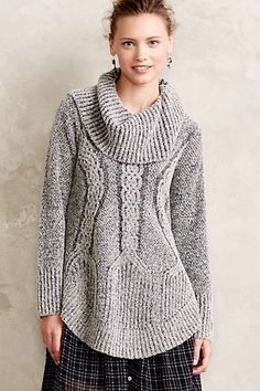 Anthropologie - Cabled Boucle Pullover