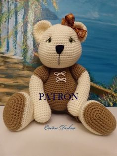 You're going to love LINDA Amigurumi Bear Pattern by designer Ositos Dulces. Crochet Teddy, Love Crochet, Crochet Dolls, Crochet Baby, Single Crochet, Amigurumi Patterns, Crochet Patterns, Crochet Animals, Handmade Toys