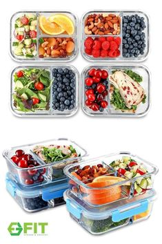 Discover the BEST Glass 1- 2- and 3-Compartment Meal Prep Containers by FIT Strong