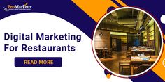 Digital Marketing for Restaurants Restaurants are a very important part of our life. Social Media for restaurants is followed by all those who do run Restaurant Business. People are searching for restaurants online. They Instagram or post pictures of whether the food or the ambience of the restaurant and tag us on Facebook and Instagram. [...] Online Marketing Companies, Digital Marketing Trends, The Marketing, Social Media Marketing, Social Media Influencer, Influencer Marketing, Social Media Games, Best Seo Company, Reputation Management