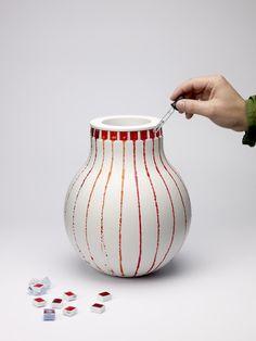 vase à coulures...
