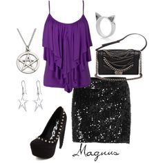 The Mortal Instruments inspired outfit Magnus Bane