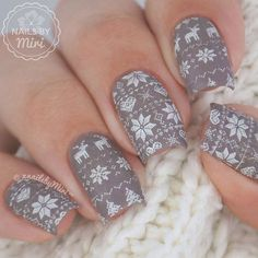Everyday nails, Nails ideas 2016, Nails with stickers, New Year nails 2017, Nude nails, Pastel nails, Print nails, Square nails