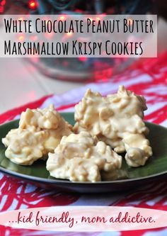 These are like CRACK! Like a Nestle Crunch Bar got it on with a white chocolate peanut butter cup...luckily they are super easy to make and can be whipped up in under 15 minutes. Enjoy this No-Bake Cookie - White Chocolate Peanut Butter Marshmallow Krispy Cookies