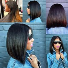 TRANSFORMATION TUESDAY| Love this #bob ✂️styled by #norfolkstylist @thekolorkween ❤️ Love how healthy and full her hair is after this #haircut #voiceofhair
