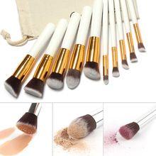 Pincéis de maquiagem 10 Pcs Superior Macio Professional Cosméticos Make Up Brush…