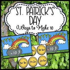 In this math activity students will solve the addition problems and then determine if the sum is 10 or not. Students will then put the gold coins that equal 10 on one St. Patrick's mat and the coins that do not equal 10 on the other St. Patrick's mat.
