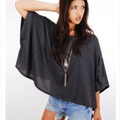 DIY shirt. Just find a square piece of jersey fabric, fold it in half once. Sew…