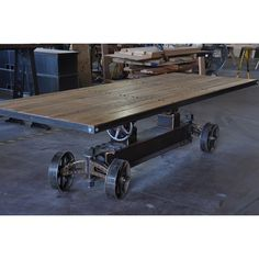 Train Crank Table | Vintage Industrial Furniture