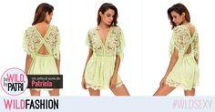 O salopeta verde si sexy este perfecta pentru o vara #hot!