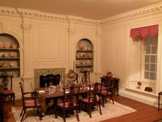Dining room from Twin Manors by Wm. R. Robertson - Structures & Rooms - Gallery - IGMA Fine Miniatures Forum