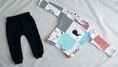 WIOSENNA BLUZA MORSKA - MisFoch - Bluzki dla niemowląt