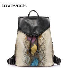 3efdfa30e838 Women's urban backpack with a print under the snake skin | Женский  городской рюкзак с принтом
