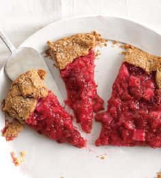 Rhubarb and Raspberry Crostata Recipe at Epicurious.com