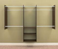 EASY TRACK - 4' to 8' Deluxe Starter Closet Kit, Truffle  Dakota?