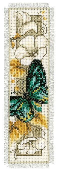 Marcador: Mariposa azul de Vervaco - Marcadores - Kits Bordado - Casa Cenina