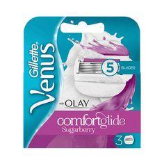 Comfortglide Med Olay Sugarberry Rakblad, 3-pack