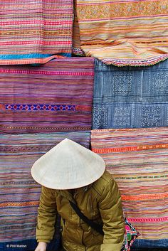 Traditional Hmong textiles, mountains of SE Asia
