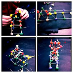 Had my kids in art therapy make structures out of gumdrops and toothpicks