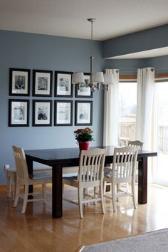 Beautiful blue color to go with natural wood trim and my all time favorite black frames