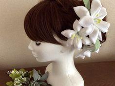 【再販5】《 Wedding&成人式 》 ユリの髪飾りセット つまみ細工   ハンドメイドマーケット minne Minne
