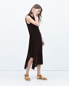 Longue robe noire zara