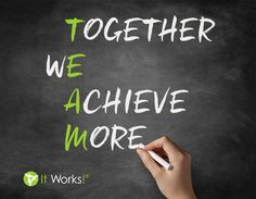 We are ONE team! If you find yourself struggling, remember, your team has your back! Tag the team members who inspire you to #ReachHigher ! #BetterTogether www.kim_dunn.myitworks.com
