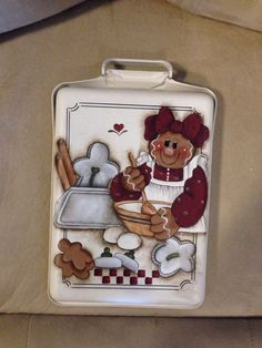 Hand Painted Gingerbread Ice Tray