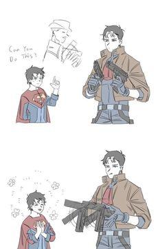 damijon-sl so cutee Superman X Batman, Batman Robin, Robin Comics, Batman Comic Art, Marvel Dc Comics, Robin Dc, Nightwing, Batgirl, Tim Drake