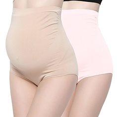 Surewin Women s Seamless Over Bump Maternity Underwear high Waist Pregnancy  Panties Maternity Underwear 757bedd41