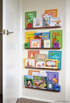 Easy DIY narrow floating shelves (so unobtrusive they can be positioned BEHIND a door) | The Painted Hive