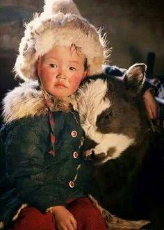 Crianças da Mongólia