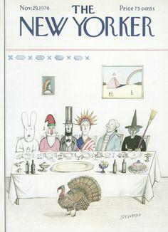 Saul Steinberg : Cover art for The New Yorker 2702 - 29 November 1976