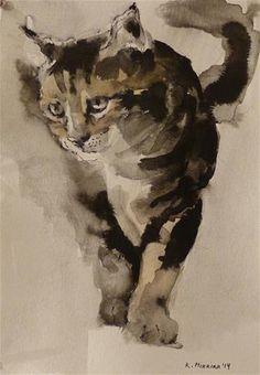 "Daily Paintworks - ""adopt57"" - Original Fine Art for Sale - © Katya Minkina"