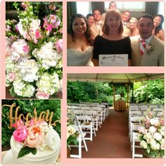 Gorgeous summer wedding for such a sweet couple!