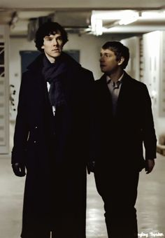 Sherlock and John. I love this pic so much (though I've just seen it this once), and I don't know why.