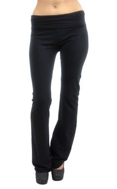 Vivian's Fashions Yoga Pants - Extra Long (Black, Large) by Vivian's FashionsTake for me to see Vivian's Fashions Yoga Pa
