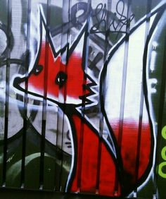 fox-street art-copenhagen... Idea for Lachlann's room